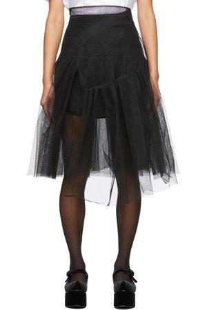 Shushu/Tong Femme Jupes plissées - Jupe noire en tulle étagée exclusive à SSENSE