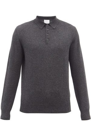 Allude Homme Polos - Polo manches longues en cachemire