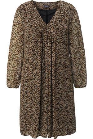 Samoon Femme Robes de soirée - La robe actuelle avec mini imprimé léopard