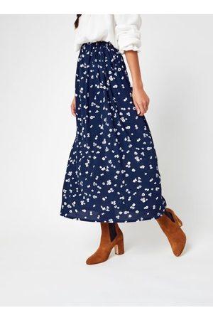 Knowledge Cotton Apparel ORCHID Lenzing™ EcoVero™ Flower Print Midi Skirt par