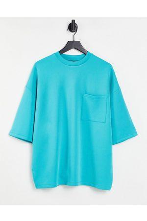 ASOS T-shirt oversize en néoprène avec poche poitrine