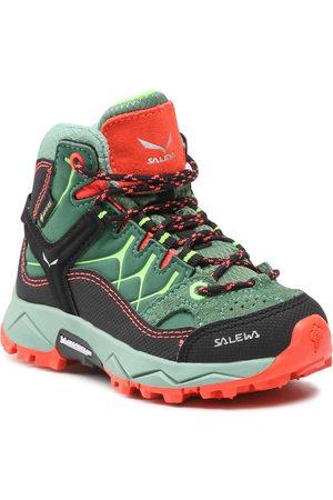 Salewa Chaussures de trekking - Jr Alp Trainer MId Gtx GORE-TEX 5960 Myrtle/Tender Shot