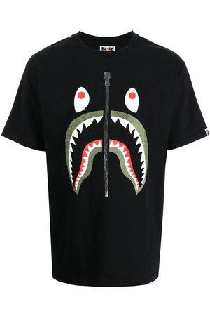 A Bathing Ape Homme Débardeurs - Shark-print cotton T-shirt