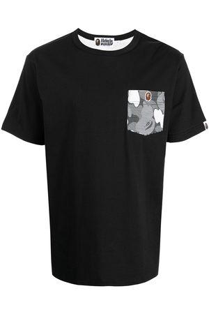 A Bathing Ape Homme Débardeurs - Shark camouflage-print cotton T-shirt