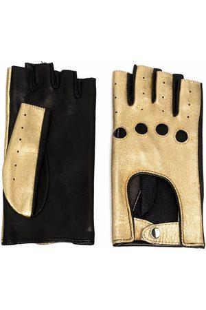 Manokhi Metallic-effect gloves