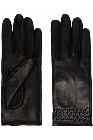 Manokhi Femme Gants - Embroidered-detail leather gloves