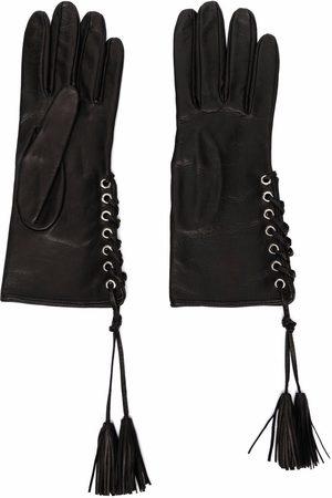 Manokhi Femme Gants - Lace-up detail gloves