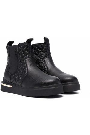 Liu Jo Fille Bottines - Logo embossed ankle boots