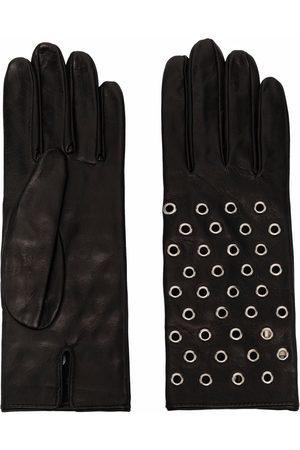 Manokhi Femme Gants - Eyelet-detail leather gloves
