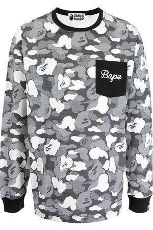 A Bathing Ape Shark camouflage-print long-sleeve top