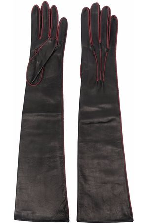 Manokhi Femme Gants - Stitch-detail leather gloves