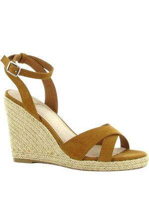 la strada Femme Espadrilles - Sleehak espadrille sandalen Brun, Femme, Taille: 38