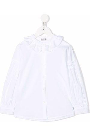 Il gufo Fille Chemisiers - Ruffled-collar shirt