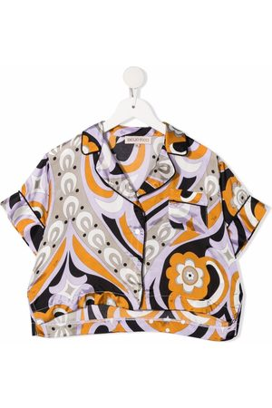 Emilio Pucci Fille Shorts - Abstract-print short-sleeved shirt