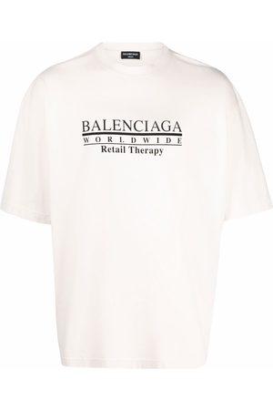 Balenciaga Homme Débardeurs - T-shirt Retail Therapy à slogan imprimé