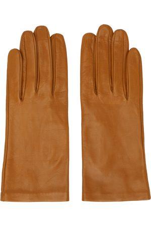 Dries Van Noten Gants brun clair en cuir
