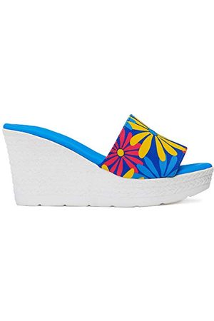 Agatha Ruiz de la Prada A116, Sandale Femme, Azul Flores Multicolor, 39 EU
