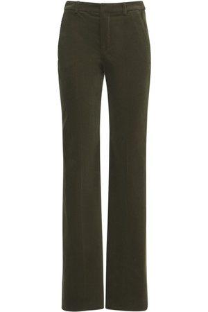 Saint Laurent Pantalon Ample En Velours De Coton
