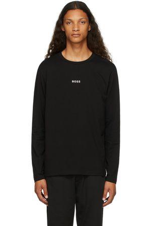 HUGO BOSS Homme Manches longues - T-shirt à manches longues noir à logo