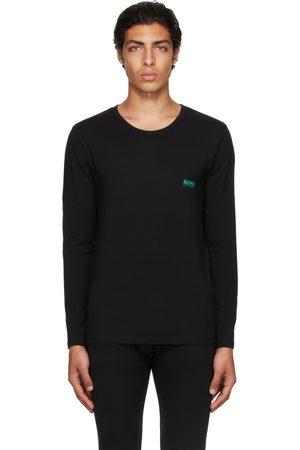 HUGO BOSS Homme Manches longues - T-shirt à manches longues Infinity noir