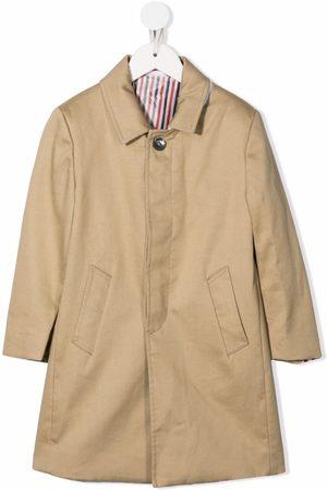 Thom Browne Garçon Manteaux - Bal-collar cotton overcoat