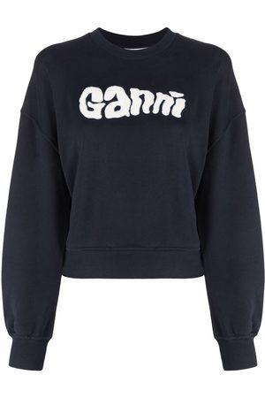 Ganni Sweat à patch logo