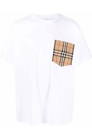 Burberry Vintage Check pocket cotton T-shirt