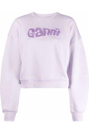 Ganni Sweat à logo texturé