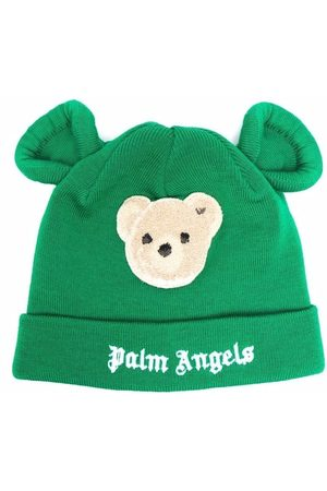 Palm Angels PALM ANGELS BEAR BEANIE GREEN BROWN