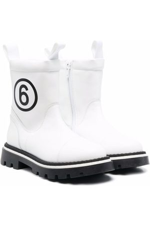 MM6 KIDS Fille Bottines - Logo-print ankle boots
