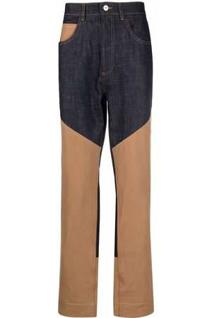WALES BONNER Homme Coupe droite - Two-tone panel trousers