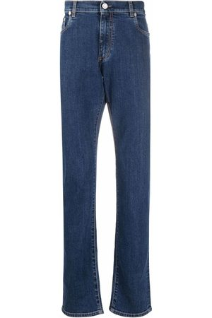 BILLIONAIRE Homme Coupe droite - Embroidered-logo straight-leg jeans