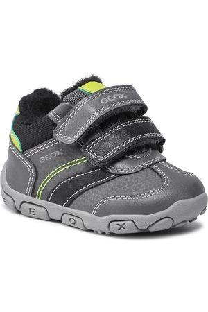 Geox Garçon Baskets - Sneakers - B Balu' B.A B1636A 0CEME C1267 Dk Grey/Lime
