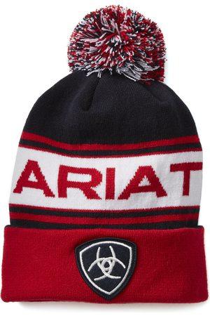 Ariat Women's Team Beanie Hat in Navy/Red