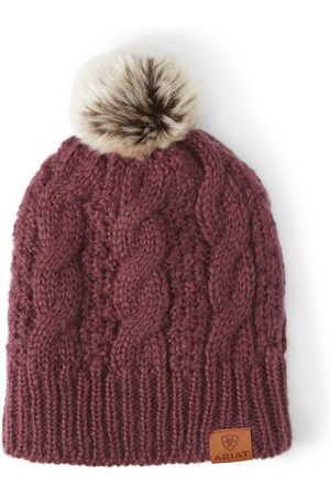 Ariat Femme Bonnets - Women's Cable Beanie Hat in Windsor Wine