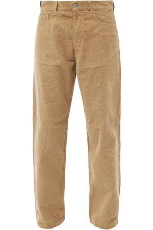 YMC Homme Coupe droite - Jean droit en velours côtelé de coton Papa