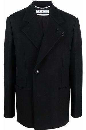OFF-WHITE BASIC SHORT COAT BLACK NO COLOR