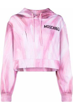 Moschino Hoodie crop imprimé