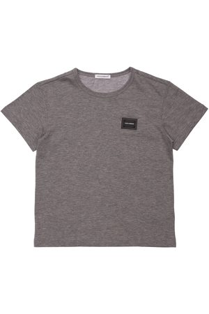 DOLCE & GABBANA T-shirt En Coton Avec Patch Logo
