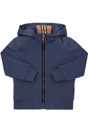 Burberry Sweat-shirt Zippé En Coton À Capuche