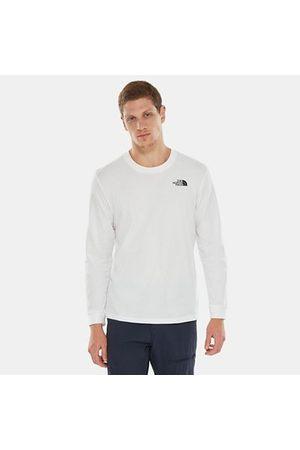 The North Face T-shirt À Manches Longues Simple Dome Pour Homme Tnf White Taille L