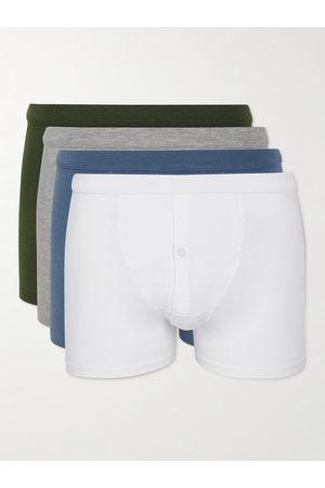 Hamilton And Hare Homme Boxers - Five-Pack Stretch Lyocell and Cotton-Blend Boxer Briefs