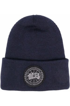 Canada Goose Homme Bonnets - Logo-embroidered merino beanie