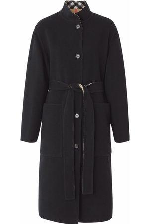Burberry Femme Manteaux - Manteau en laine à design réversible