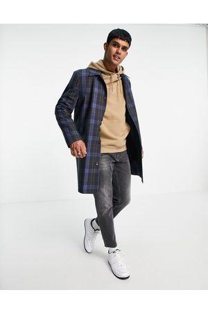 ASOS Trench-coat imperméable à carreaux - marine