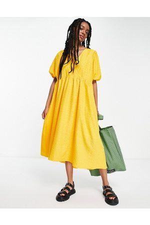 Selected Femme - Robe mi-longue texturée