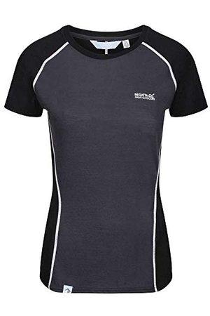 Regatta Tornell II T-Shirt Respirant, mérinos TechWool, Manches Courtes, t-Shirt/Polo/Vests, Femme, Ash/Black, 10