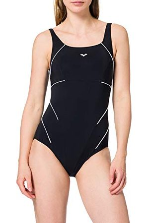 arena W Jewel One Piece Maillot de bain Femme, Black/White, FR : XL (Taille Fabricant : 44)