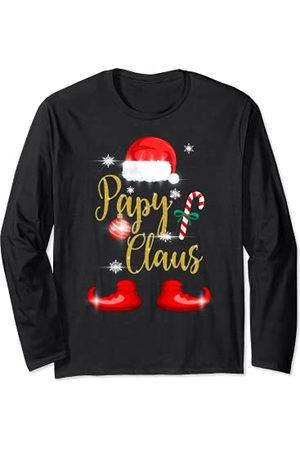 Cadeau de Noël Original pour Famille Co. Papy Claus Cadeau Noël Pyjama Assortis Pere Grand-père Manche Longue