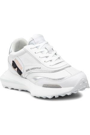 Karl Lagerfeld Sneakers - KL62930 White Lthr/Sde W/Silver